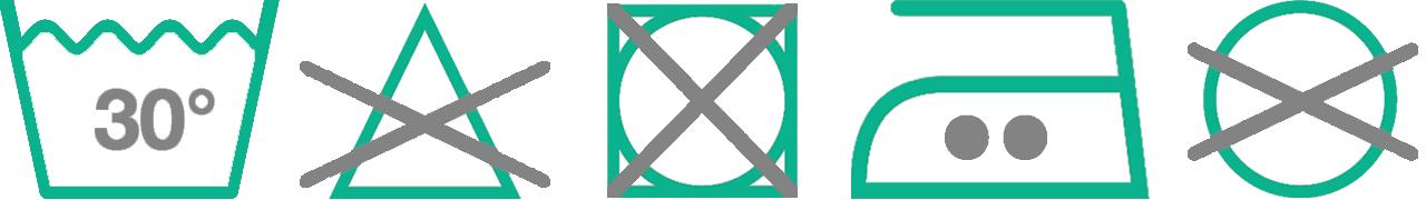 30° Wash Care Symbols