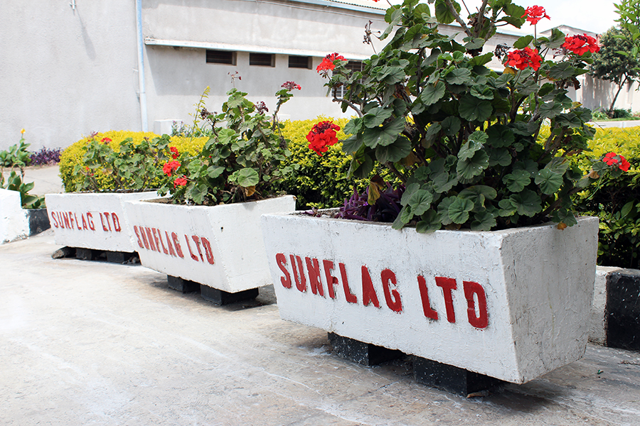 Flower pots at Sunflag Tanzania Ltd. Factory